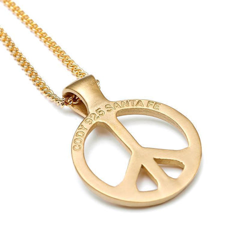 Buy gold silver large peace sign necklace online the black ravens cool men womens world peace titanium pendant silver aloadofball Image collections