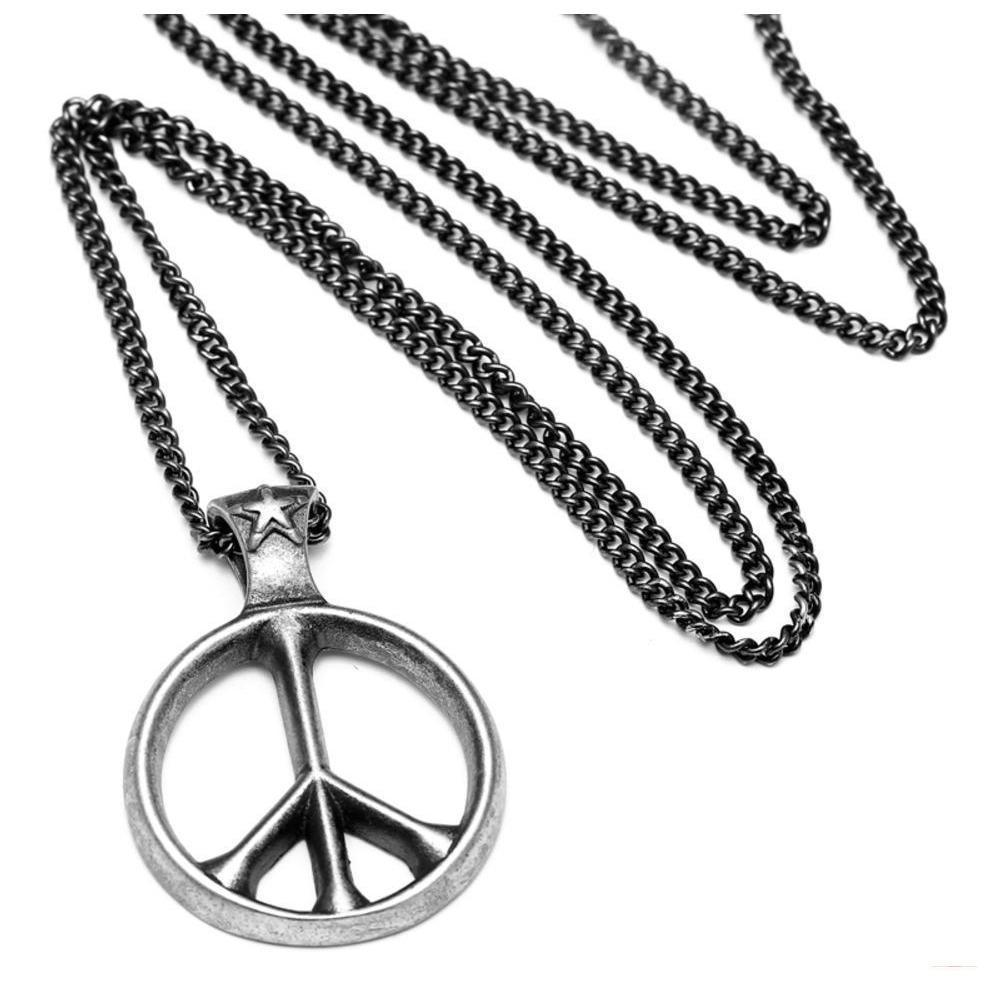 Cool Men & Women's World Peace Titanium Pendant - The Black Ravens