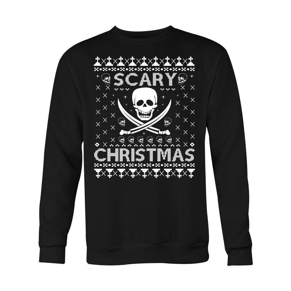 Cool Men's Scary Christmassy Jumper - The Black Ravens
