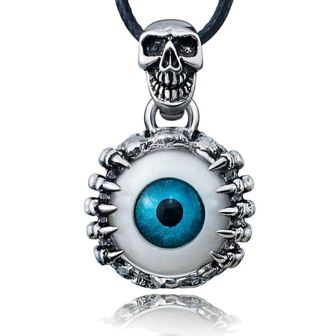 Cool Men's & Women's Scary Eyeball Pendants-Blue-