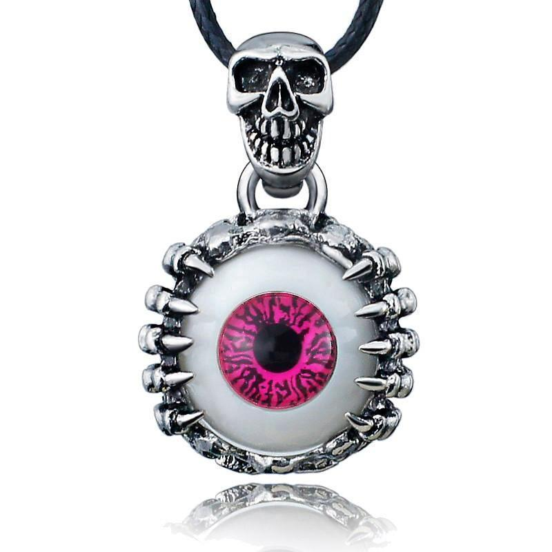 Cool Men's & Women's Scary Eyeball Pendants-Red-