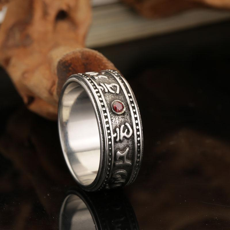 Cool Punk Red Charm Rings - The Black Ravens