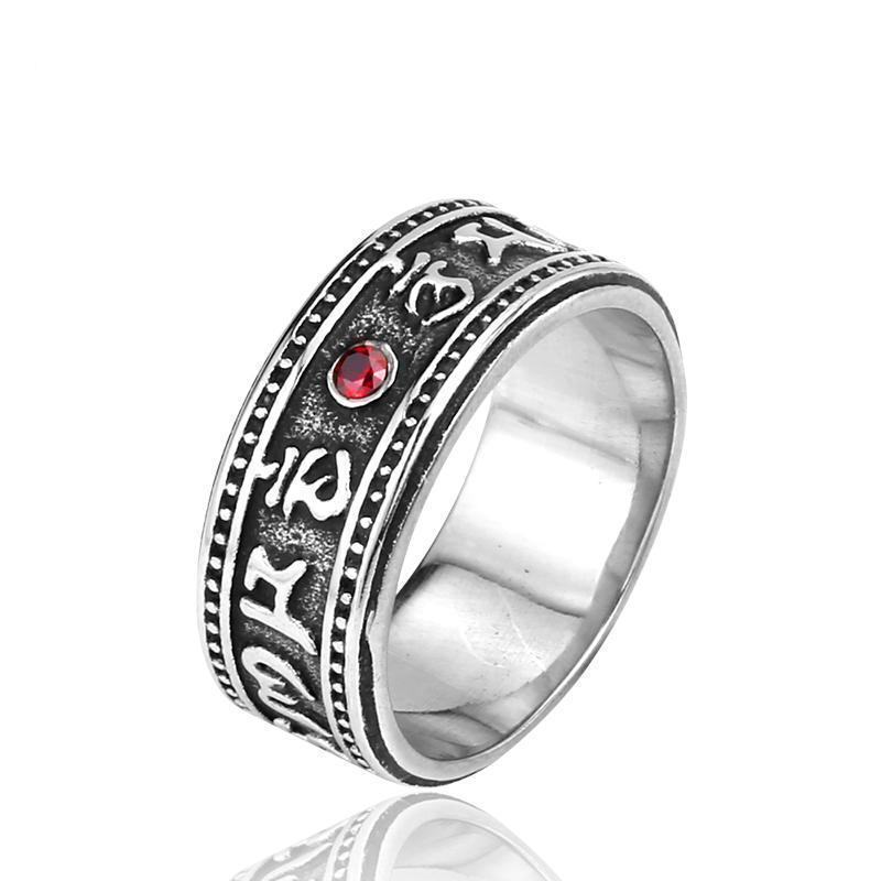 Cool Punk Red Charm Rings-7-