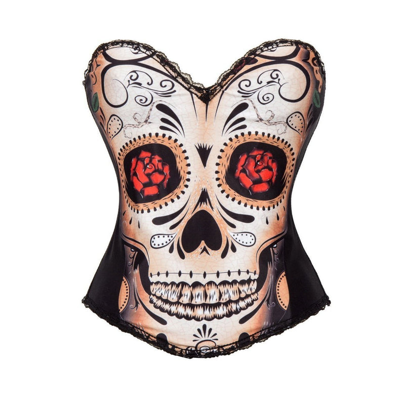 Cool Red Eyed Skull Body Shaping Corset - The Black Ravens