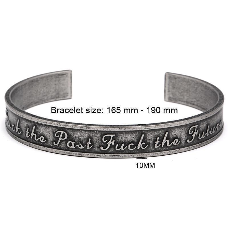 Cool Rocker Girls Anarchy Bracelets-Ancient Silver-