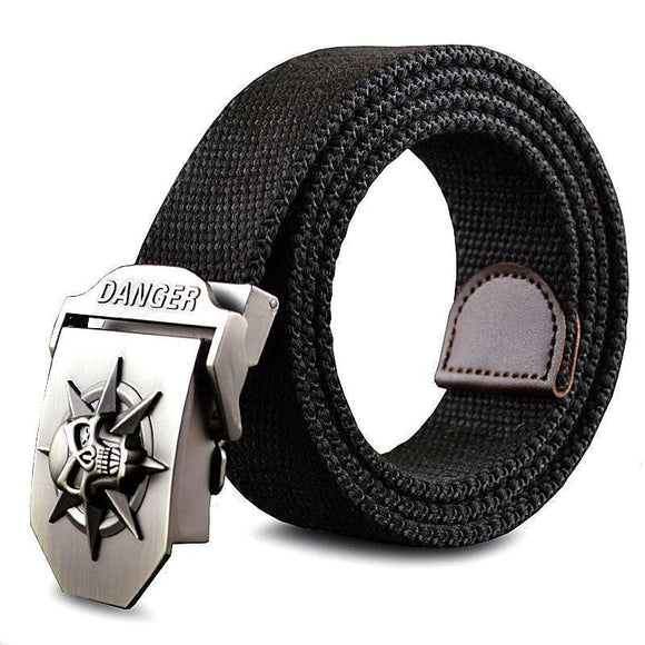 Cool Stainless Skulls Buckle For Guys-Black-100Cm-