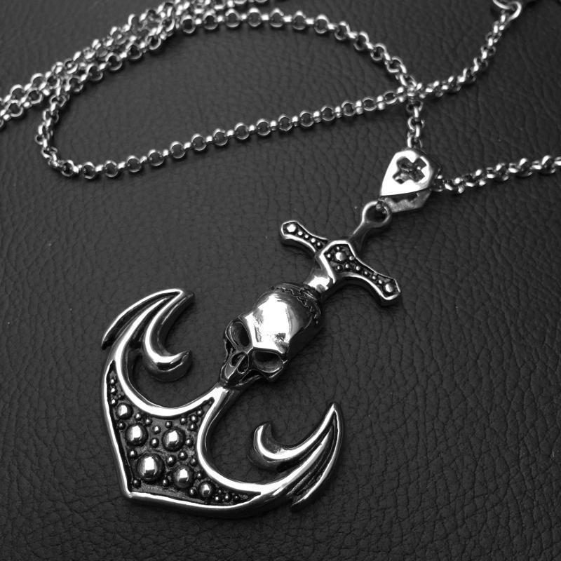 Cool Stainless Steel Gothic Seaman Pendant Charm-