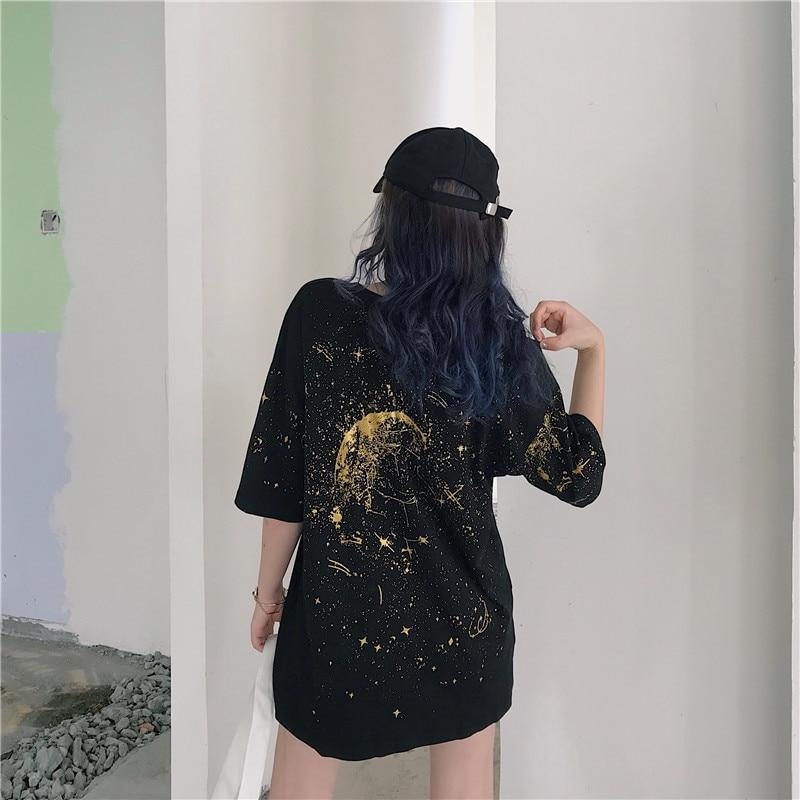 Cool Starry Night Women's Loose Shirt-