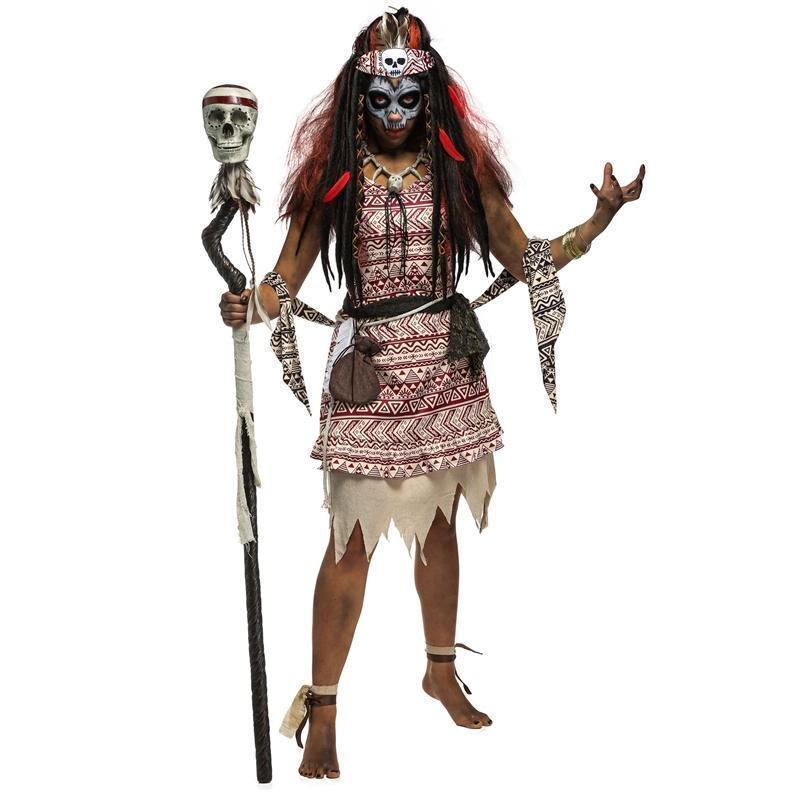 Creepy Ancient Witches Fancy Dress Up-S-