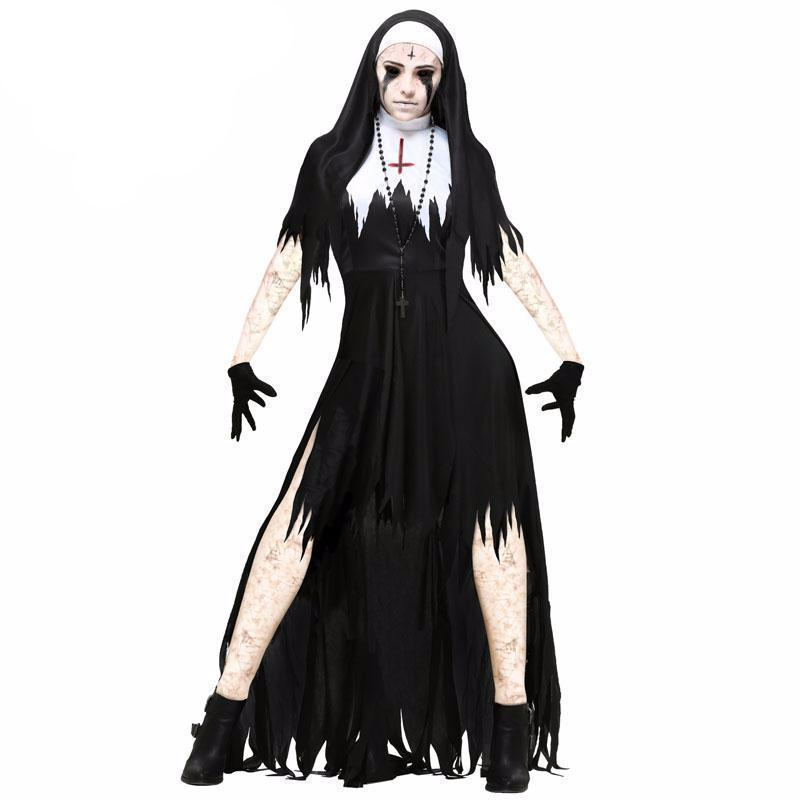 Classic Halloween Gothic Witch Dress Set
