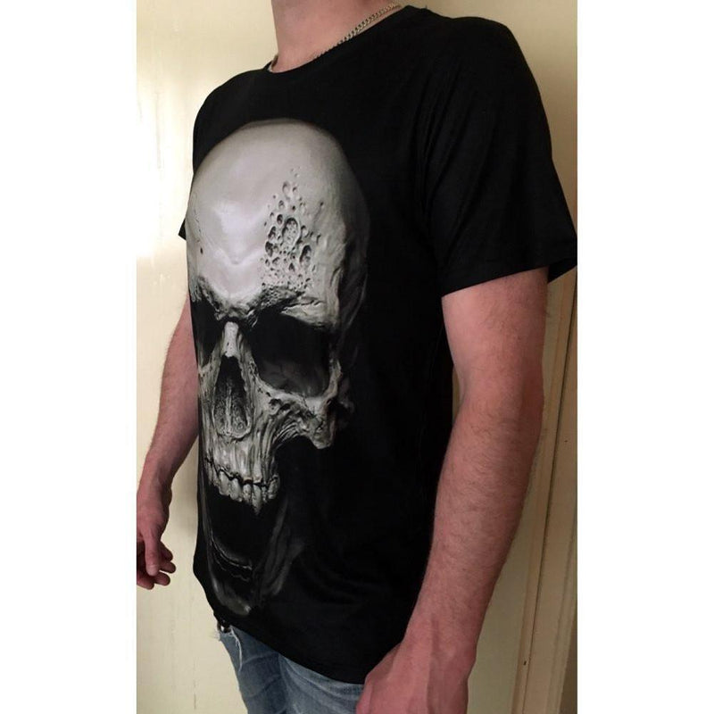 Creepy Skulls Horror Tops For Men - The Black Ravens