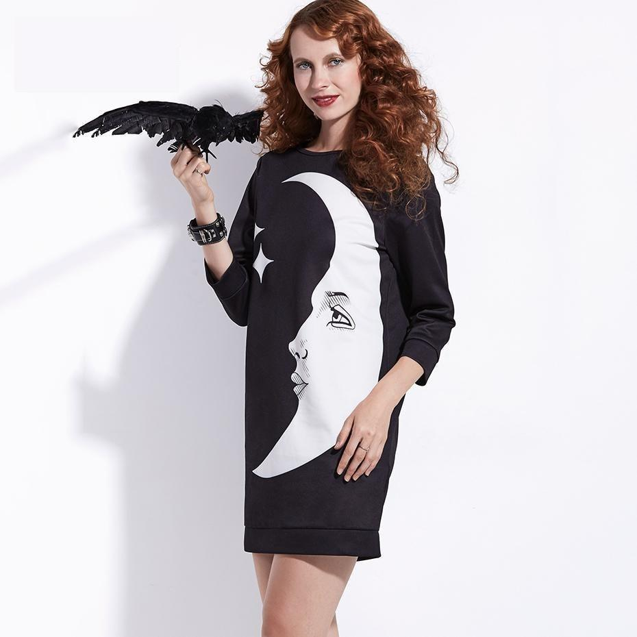 Crescent Loose Blouses For Women - The Black Ravens