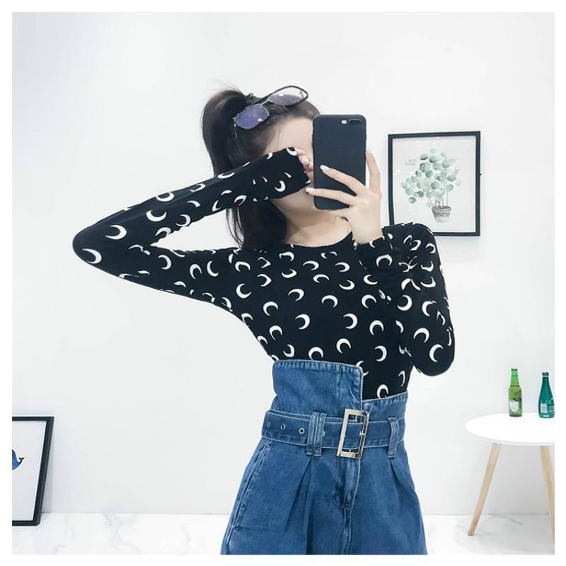 Crescent Moon Print Sexy Women's Top - The Black Ravens
