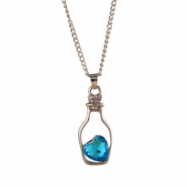 Crystal Bottle Chain For Women-Blue-