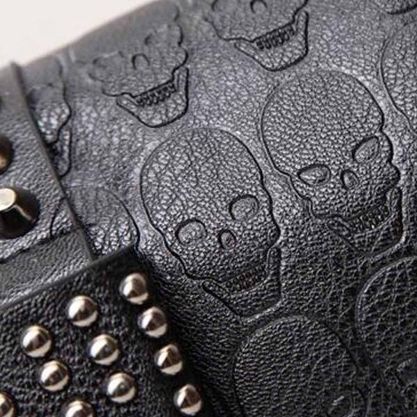 Cute Black Skull Spiked Bag-