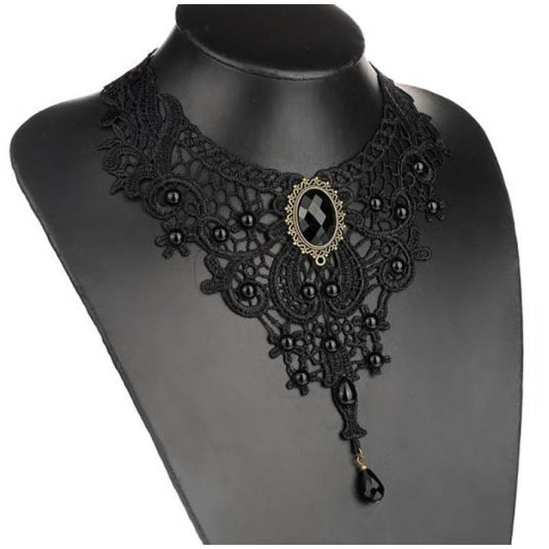 Cute Black Women's Gemstone Lacey Pendant - The Black Ravens