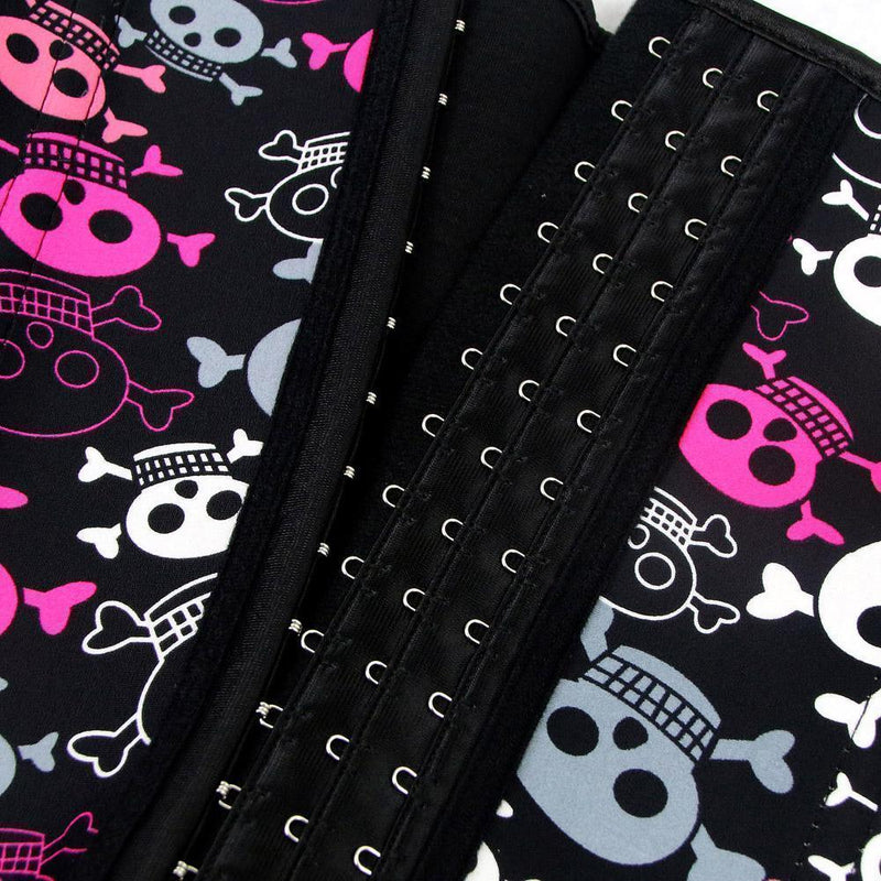 Cute Blue, Pink and White Skull Corsets - The Black Ravens