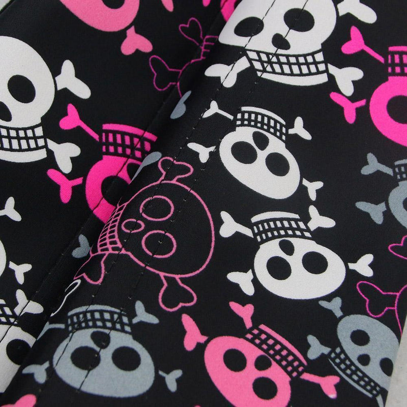 Cute Blue, Pink And White Skull Corsets-Black-S-