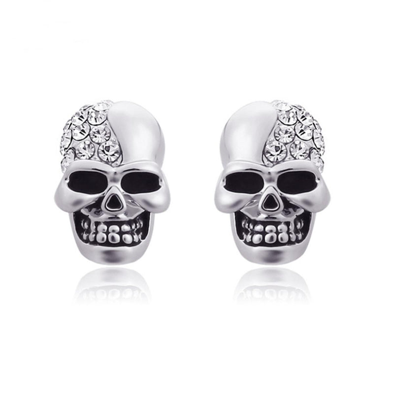 Cute Crystal Earring Skulls - The Black Ravens