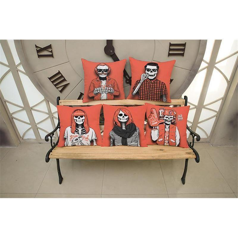 Cute Decoration Abstract Horror Throwing Pillows-45X45Cm Velvet-A Cover-