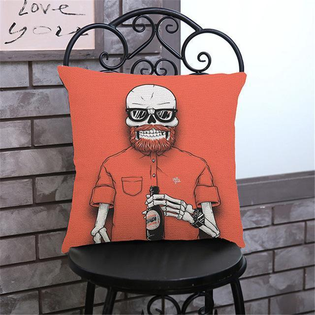 Cute Decoration Abstract Horror Throwing Pillows-45X45Cm Velvet-B Cover-