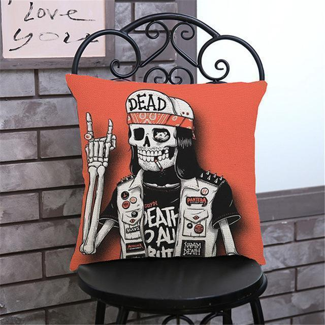 Cute Decoration Abstract Horror Throwing Pillows-45X45Cm Velvet-D Cover-