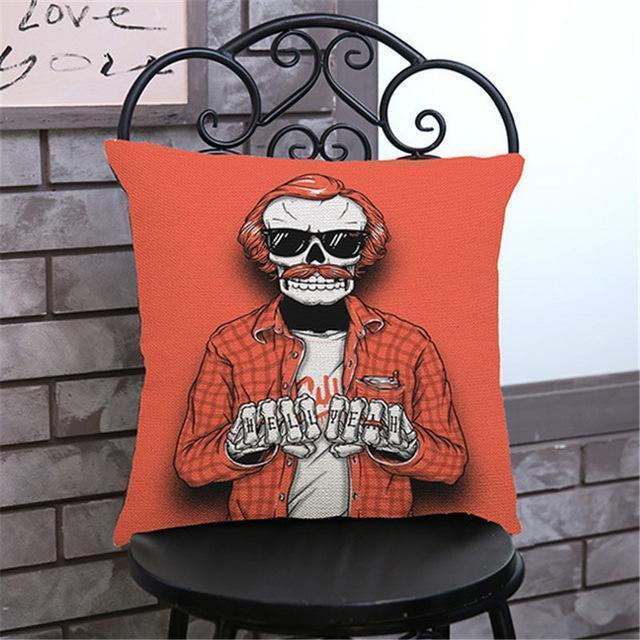 Cute Decoration Abstract Horror Throwing Pillows-45X45Cm Velvet-E Cover-