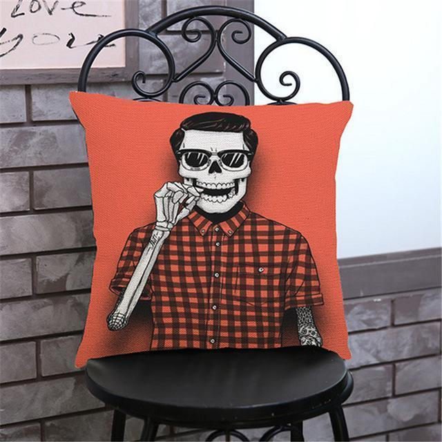 Cute Decoration Abstract Horror Throwing Pillows-45X45Cm Velvet-F Cover-