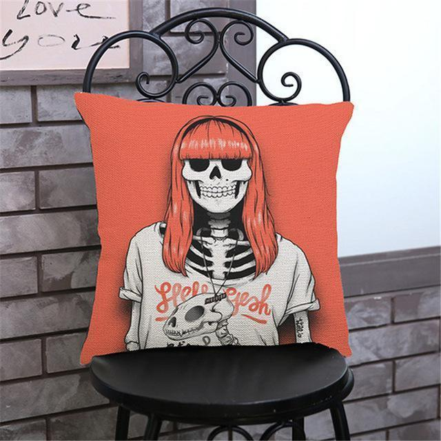 Cute Decoration Abstract Horror Throwing Pillows-45X45Cm Velvet-G Cover-