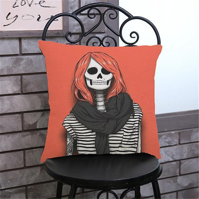 Cute Decoration Abstract Horror Throwing Pillows-45X45Cm Velvet-H Cover-