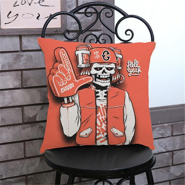 Cute Decoration Abstract Horror Throwing Pillows-45X45Cm Velvet-I Cover-