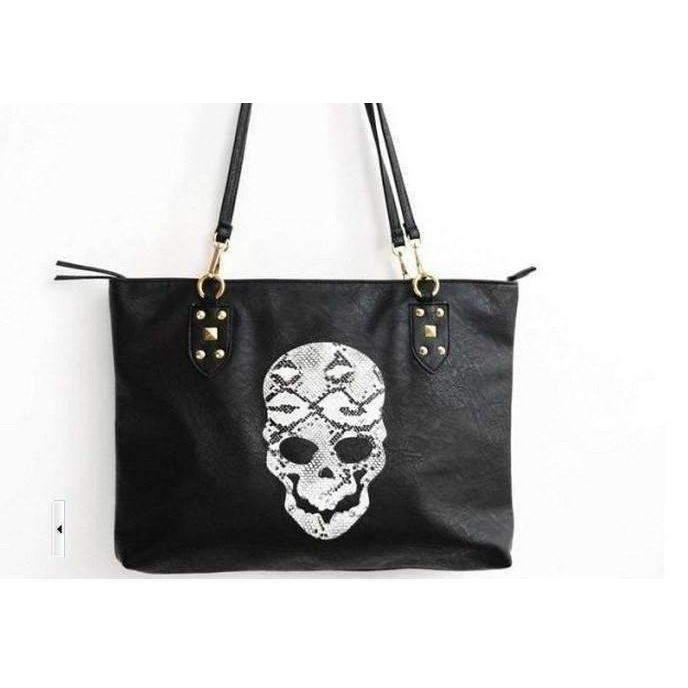 Cute Faux Leather Skeleton Face Bag - The Black Ravens