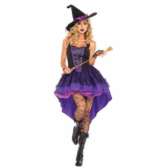 Cute Gothic Witches Fancy Dress Outfit-S-