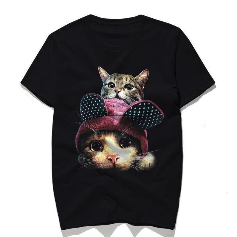 Cute Kitten With A Hat Top For Guys - The Black Ravens