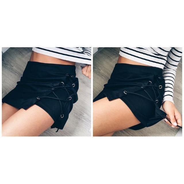 Cute Lace Skirts For Women-Black-S-