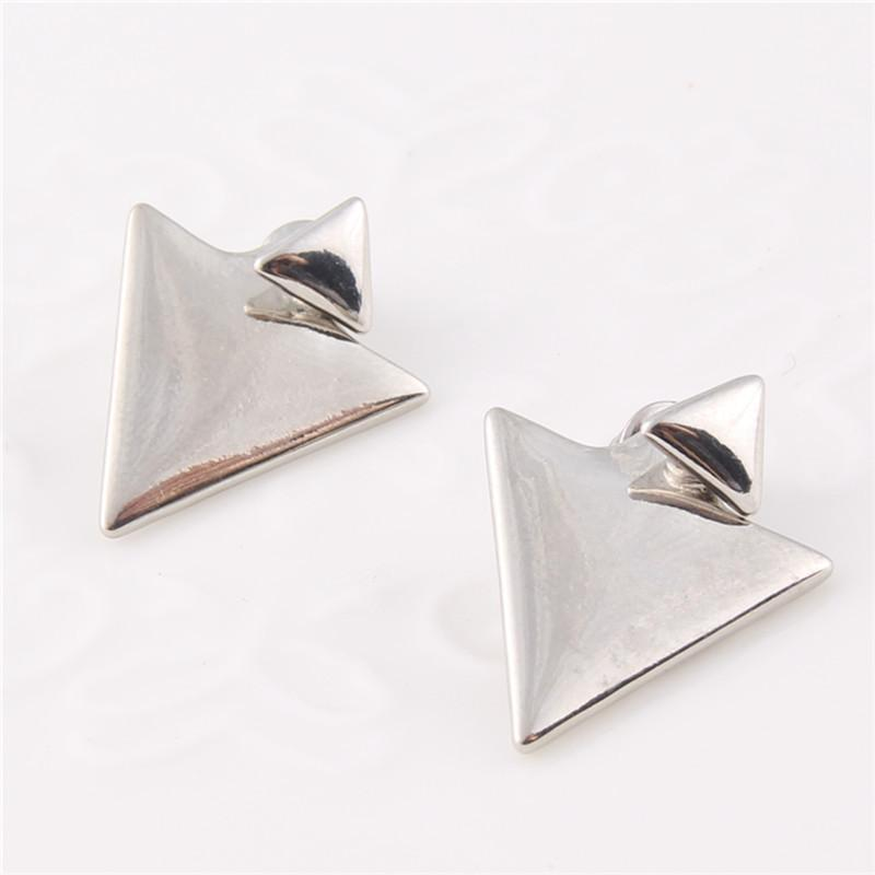 Cute Modern Triangular Pyramid Earring Studs - The Black Ravens