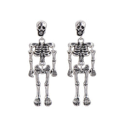 Cute Quirky Women's Golden & Silver Plated Skeletons Earring-Gold Plated-