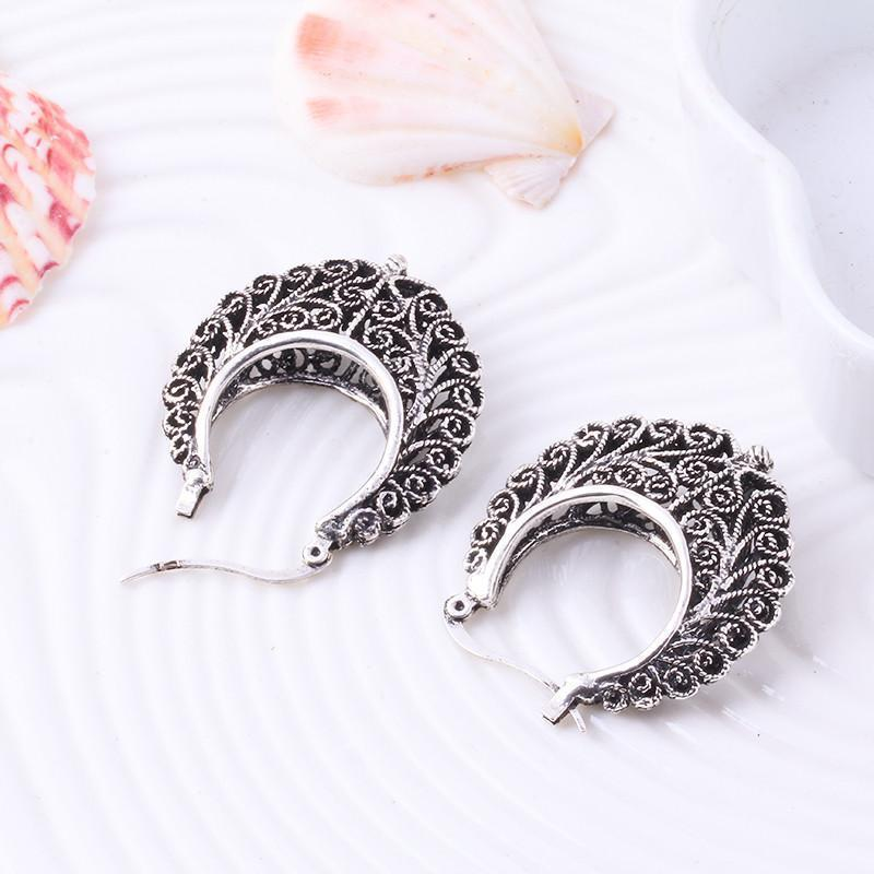 Cute Real Sterling Silver Floral Earring - The Black Ravens