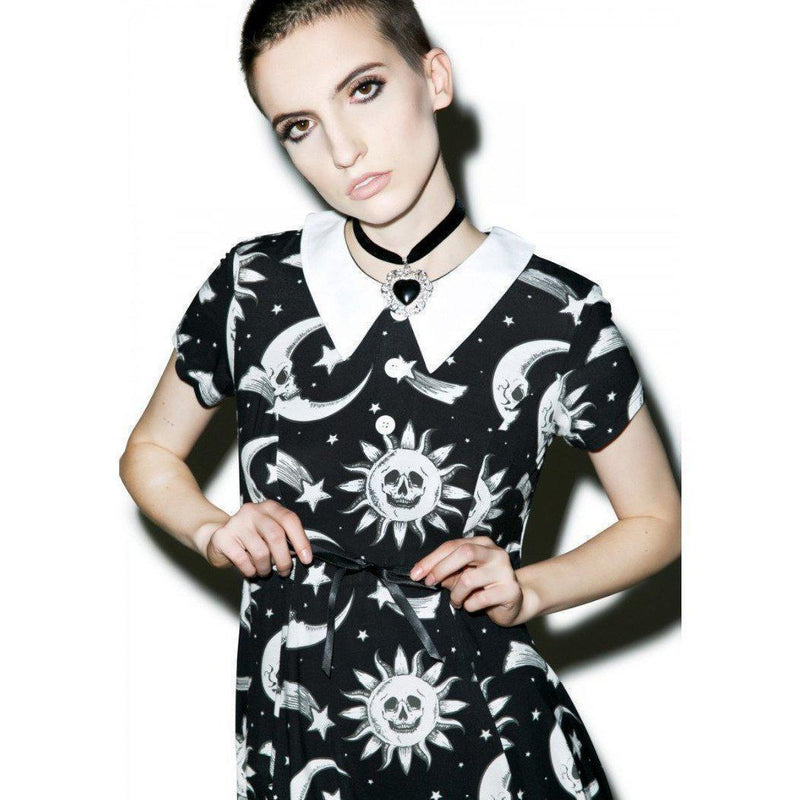 Cute Solar System Outfit For Women-Black-S-