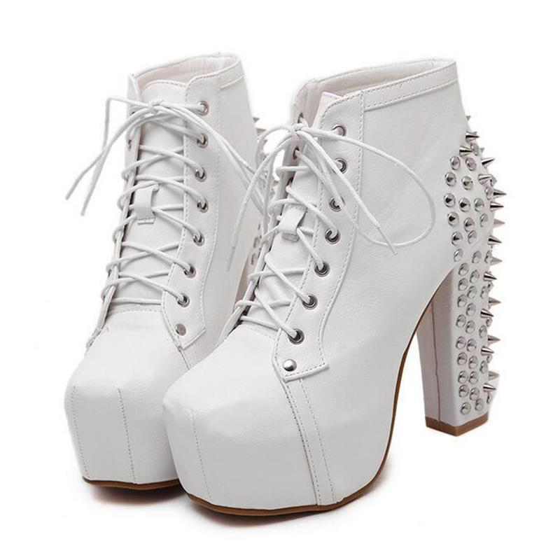 Cute Spike Punk Platforms-White-4-