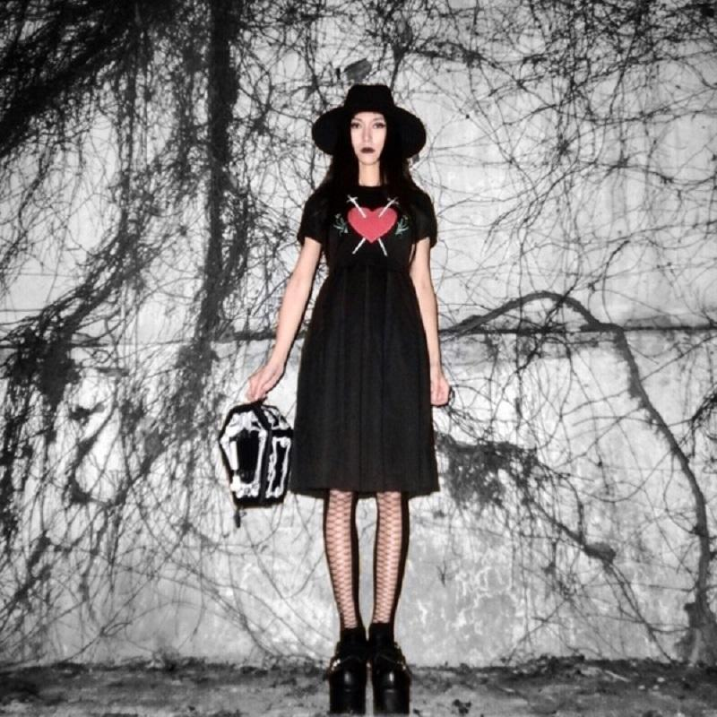 Cute Sword Through Your Heart Dresses - The Black Ravens