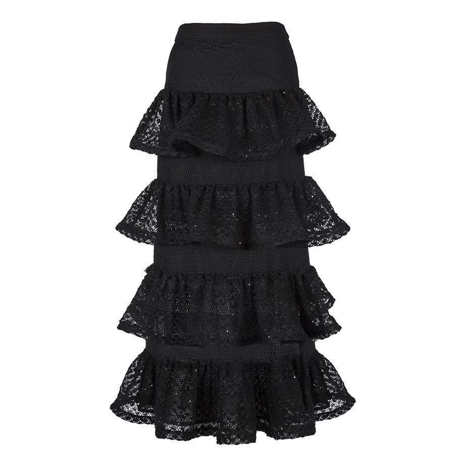 Cute Wave Layered Office Skirts - The Black Ravens
