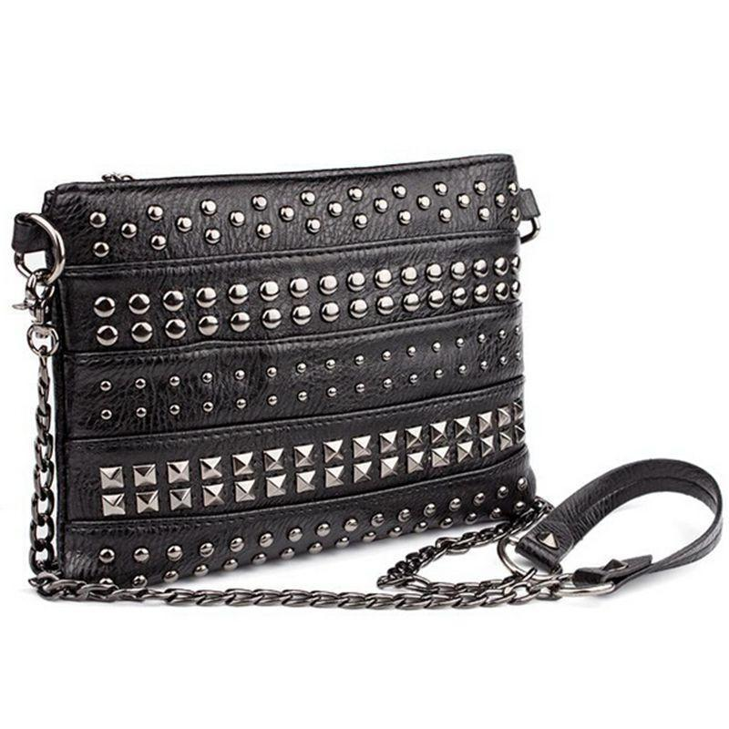 Cute Zipper Alternative Spike Handbag - The Black Ravens