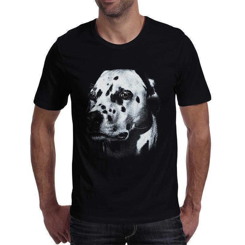 Dark Dalmatian Rocker T-Shirt-Black-S-