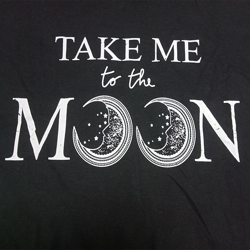 Dark Punk Take Me To The Moon Ladies Shirt - The Black Ravens