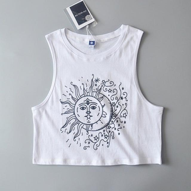 Dark Sun and Moon Tank Top - The Black Ravens