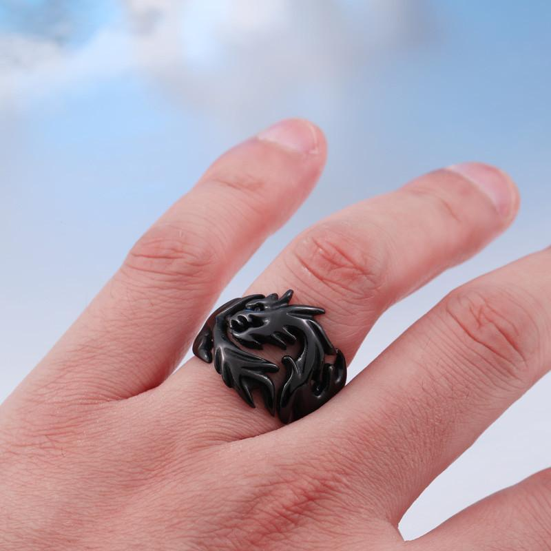 Buy Young Celtic Black Dragon Wedding Rings Online Mens