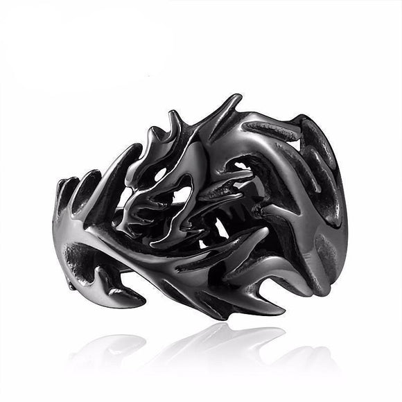 Dragon Eye And Claw Engagement Ring For Men-6-Black-