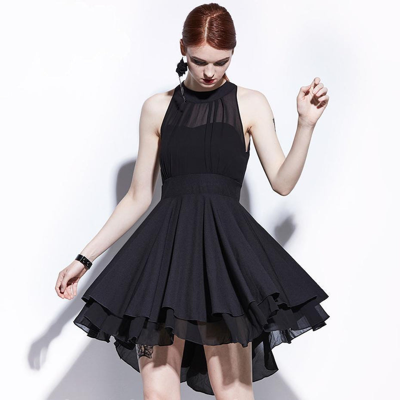 Edgy A-Line Gothic Dress - The Black Ravens