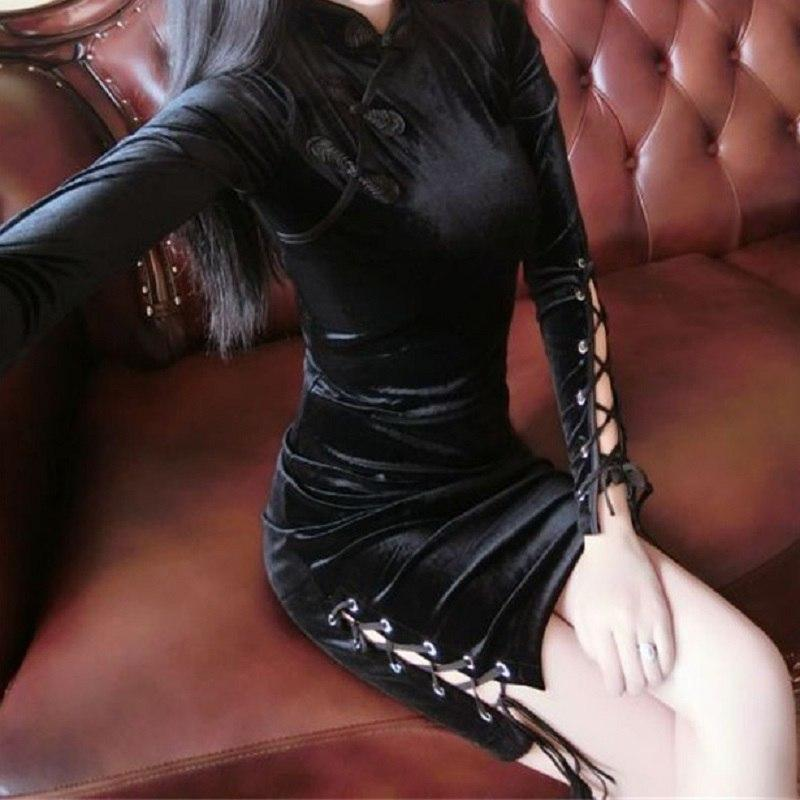 Elegant Gothic Bandage Sexy Dress - The Black Ravens